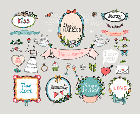 romance: Wedding graphic set