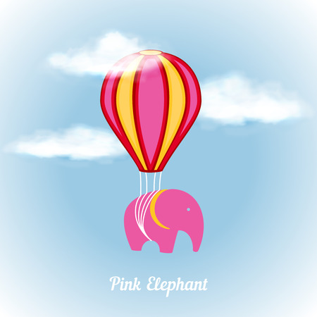air animals: Pink elephant on air