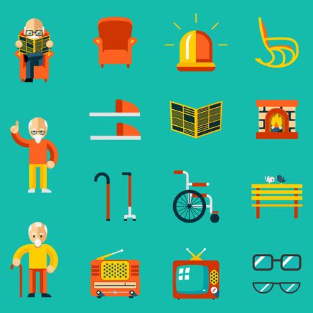 Personnes âgées icônes Vecteurs