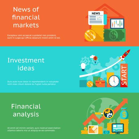 Business concepten. Nieuws van de markten, investeringen ideeën en financiële analyse
