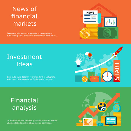 Business concepts. News of markets, investment ideas and financial analysis