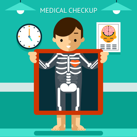 checkup: Mobile health mHealth, diagnosis and monitoring of patients using mobile devices Illustration