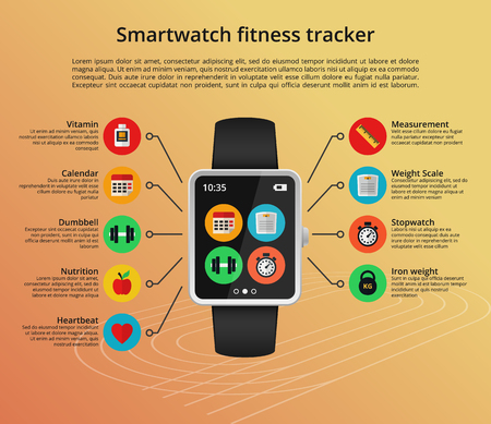 application software: Smartwatch fitness tracker