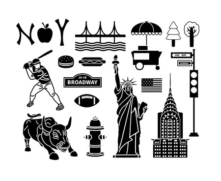 street signs: New York icons Illustration