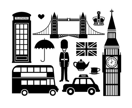 bus anglais: Icônes de Londres Illustration