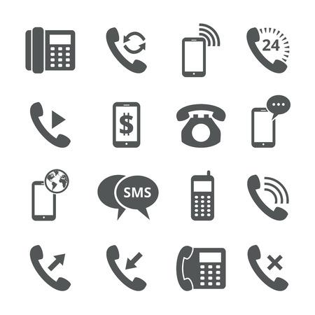 Phone icons  イラスト・ベクター素材