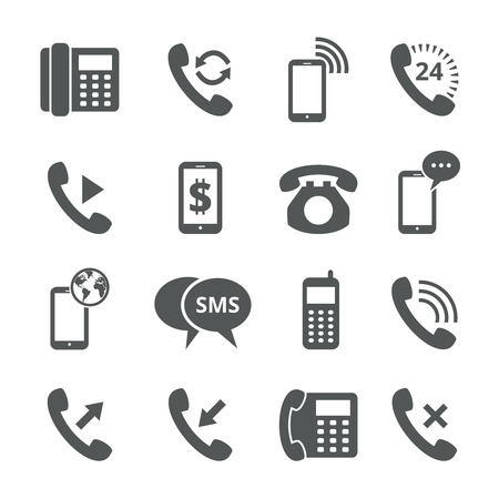 internet phone: Phone icons Illustration