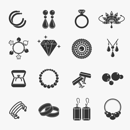 jewelry design: Jewelry icons Illustration