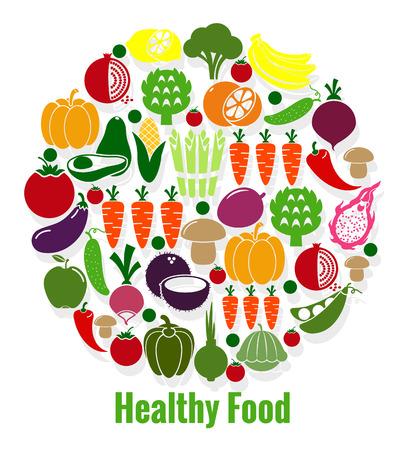 Vegetables healthy food Illustration