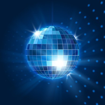 espejo: Vector discoteca bola de espejos