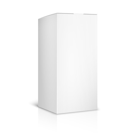 white boxes: Blank paper or cardboard box template on white background