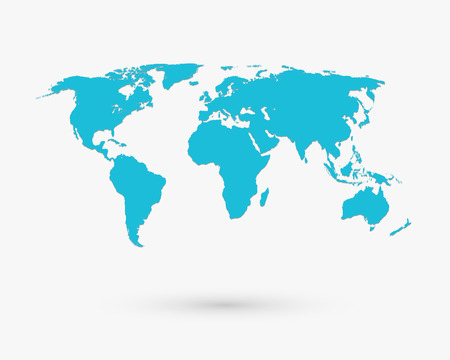 alrededor del mundo: Mapa vectorial Vectores