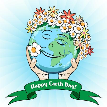 22 de abril Día de la Tierra Tarjeta Foto de archivo - 37844677