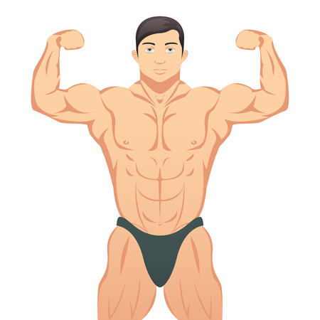 steroids: Bodybuilder showing muscles