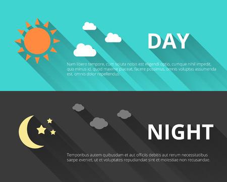noche estrellada: D�a y noche banners
