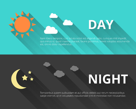day night: Day and night banners