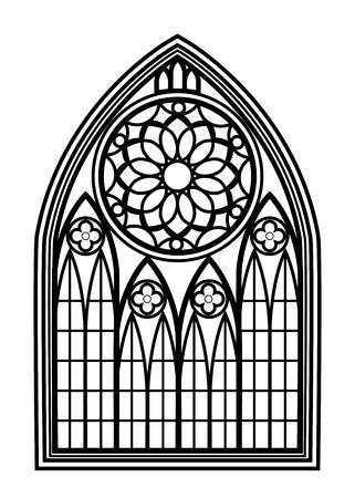 arquitectura: Ventana para las iglesias y monasterios Vectores