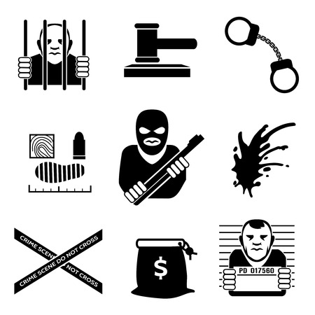 burglar man: Vector criminal Illustration