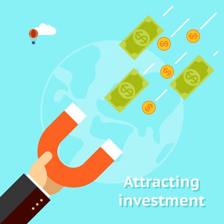 Attirer les investissements notion Banque d'images - 38425016
