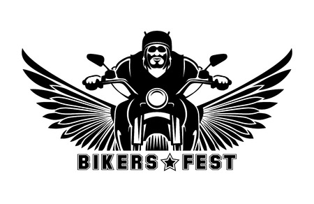 helmet moto: Biker icono ilustraci�n