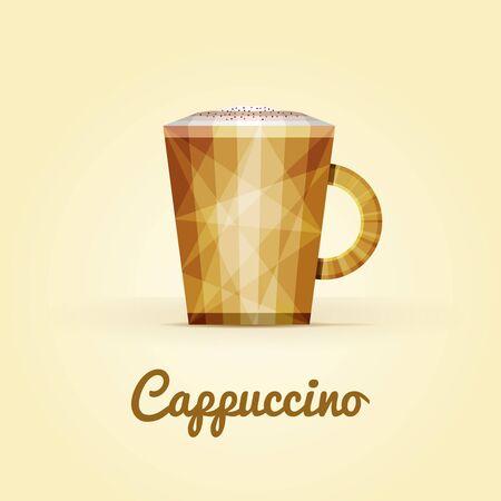 triangular: Cappuccino triangular icon  Illustration
