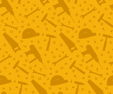 Construction tools seamless background Illustration