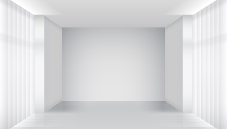 empty room: White empty room interior Illustration