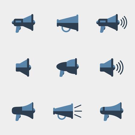 icônes vectorielles Megaphone