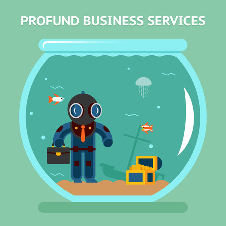 qualitatively: Profound business services Illustration