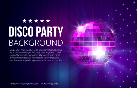 glitter ball: Disco party background