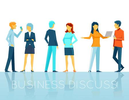 議論するビジネス人々  イラスト・ベクター素材