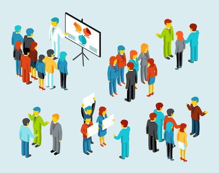 organigrama: Gente de negocios reunión