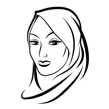 muslim fashion: Beautiful arab muslim woman
