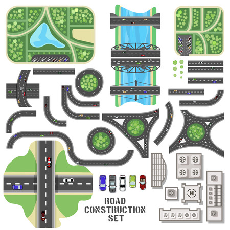 cars road: Road construction set