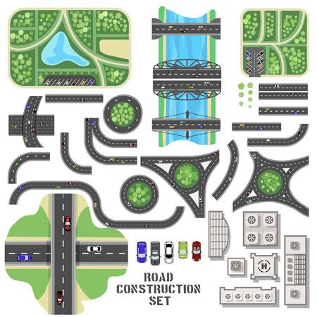 Road construction set 版權商用圖片 - 38425735