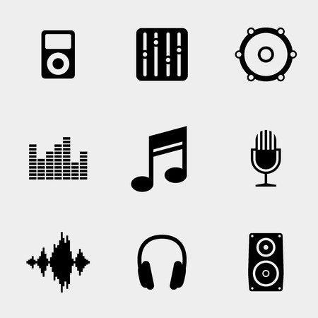 Music and sound icons Stock fotó - 38687845
