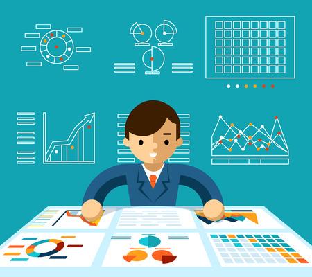 Information analysis  イラスト・ベクター素材