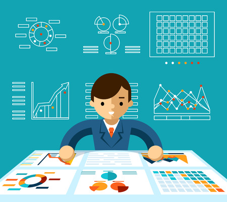 Information analysis Illustration
