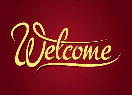 the welcome: Signo letras de la mano de bienvenida