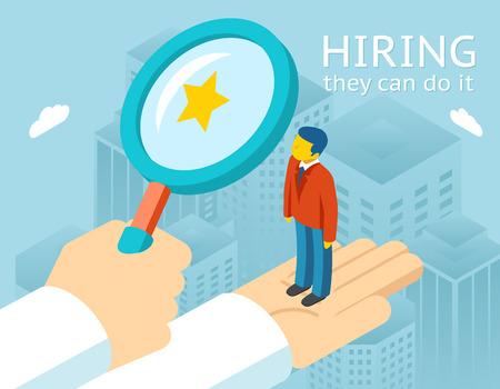 Choisir une personne pour l'embauche Vecteurs
