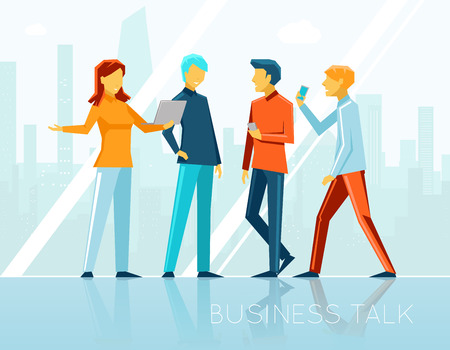 discuss: Business talk, creative brainstorming