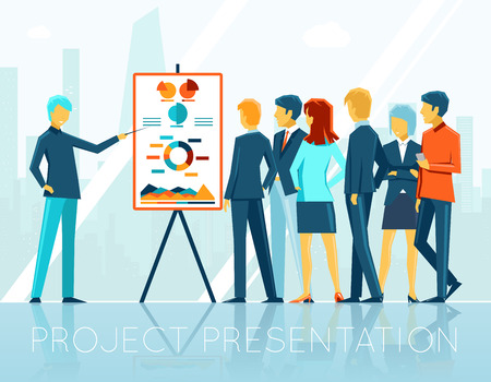 business project: Business meeting, project presentation
