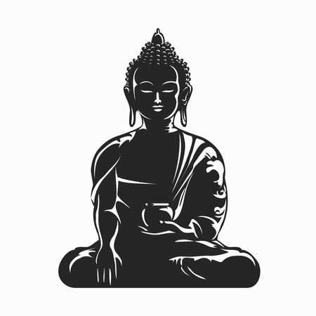 buddha tranquil: Buddha vector silhouette