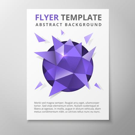 advertising logo: Geometric triangular abstract flyer Illustration