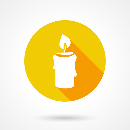 paraffin: Flat candle icon Illustration