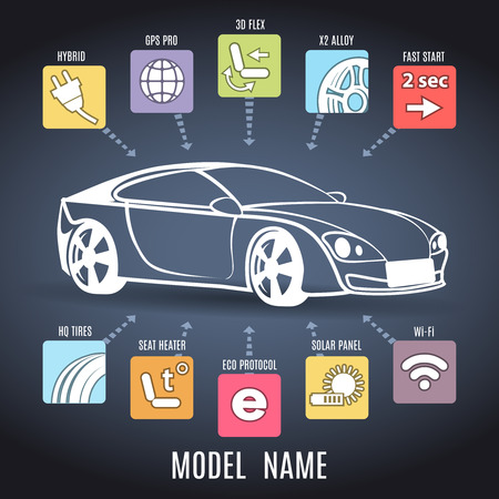 Car presentation poster