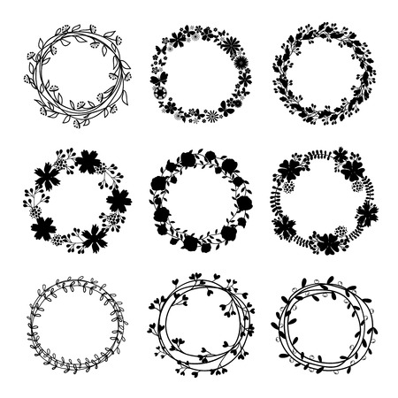 handdraw: Hand-draw vector wreaths