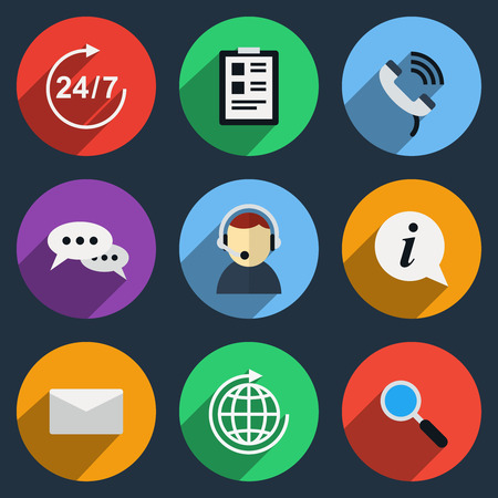 phone service: Vector call center icons