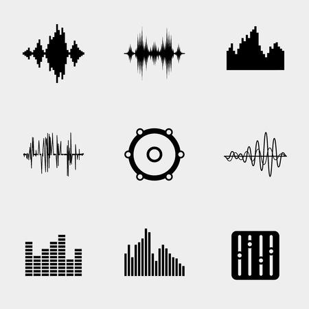 Iconos de la música Soundwave Ilustración de vector