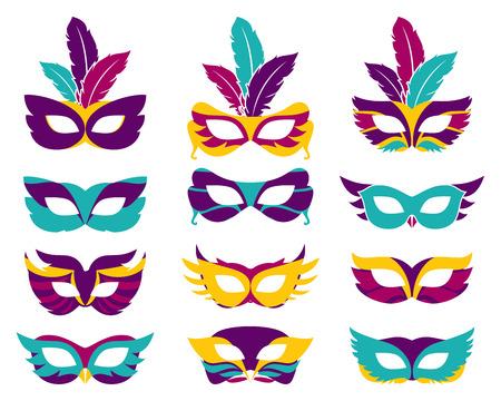 teatro mascara: Máscaras del partido del vector